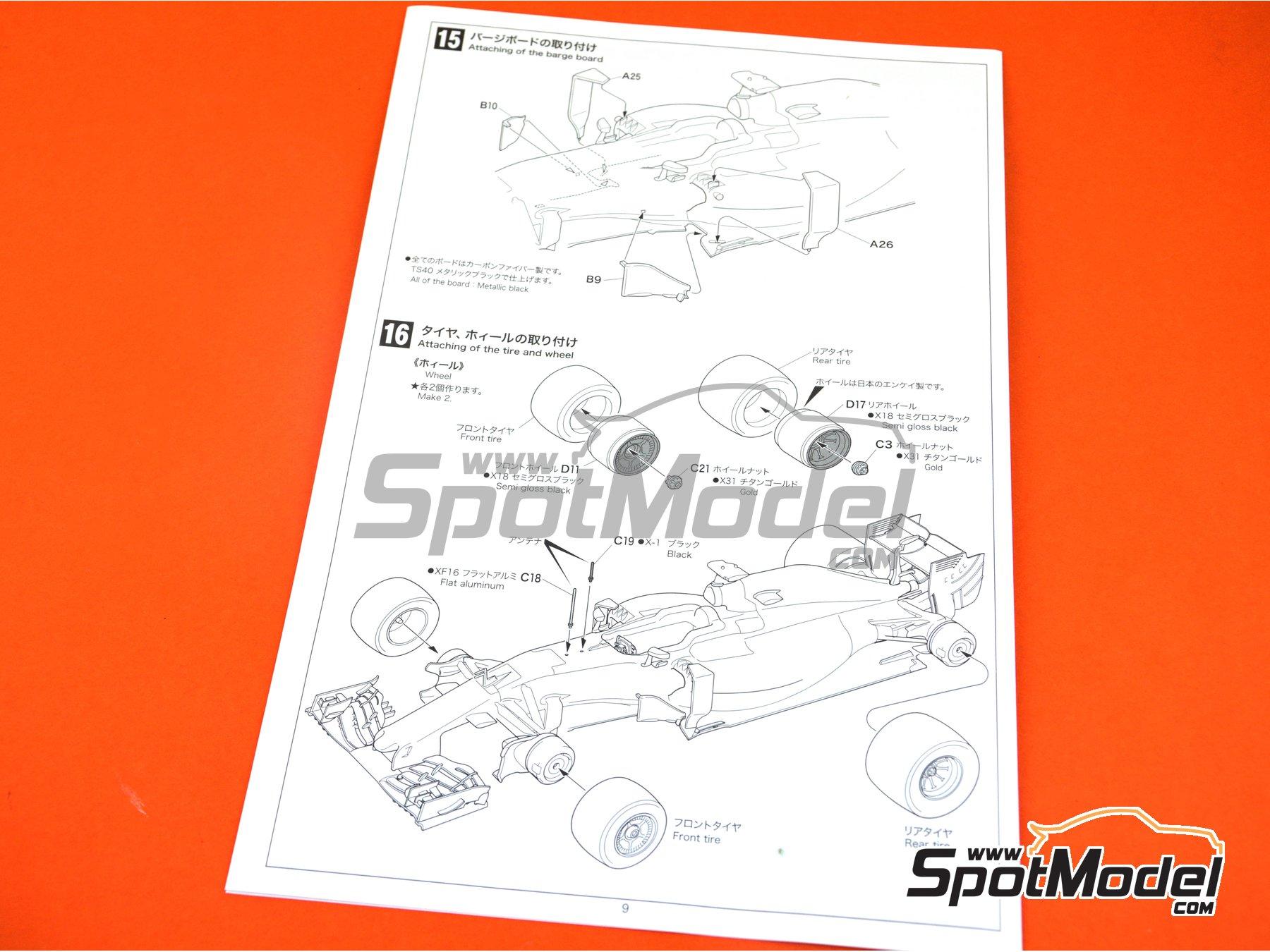 Image 25: McLaren Honda MP4/31 - Spanish Grand Prix 2016 | Model car kit in 1/20 scale manufactured by Ebbro (ref.EBR20018)