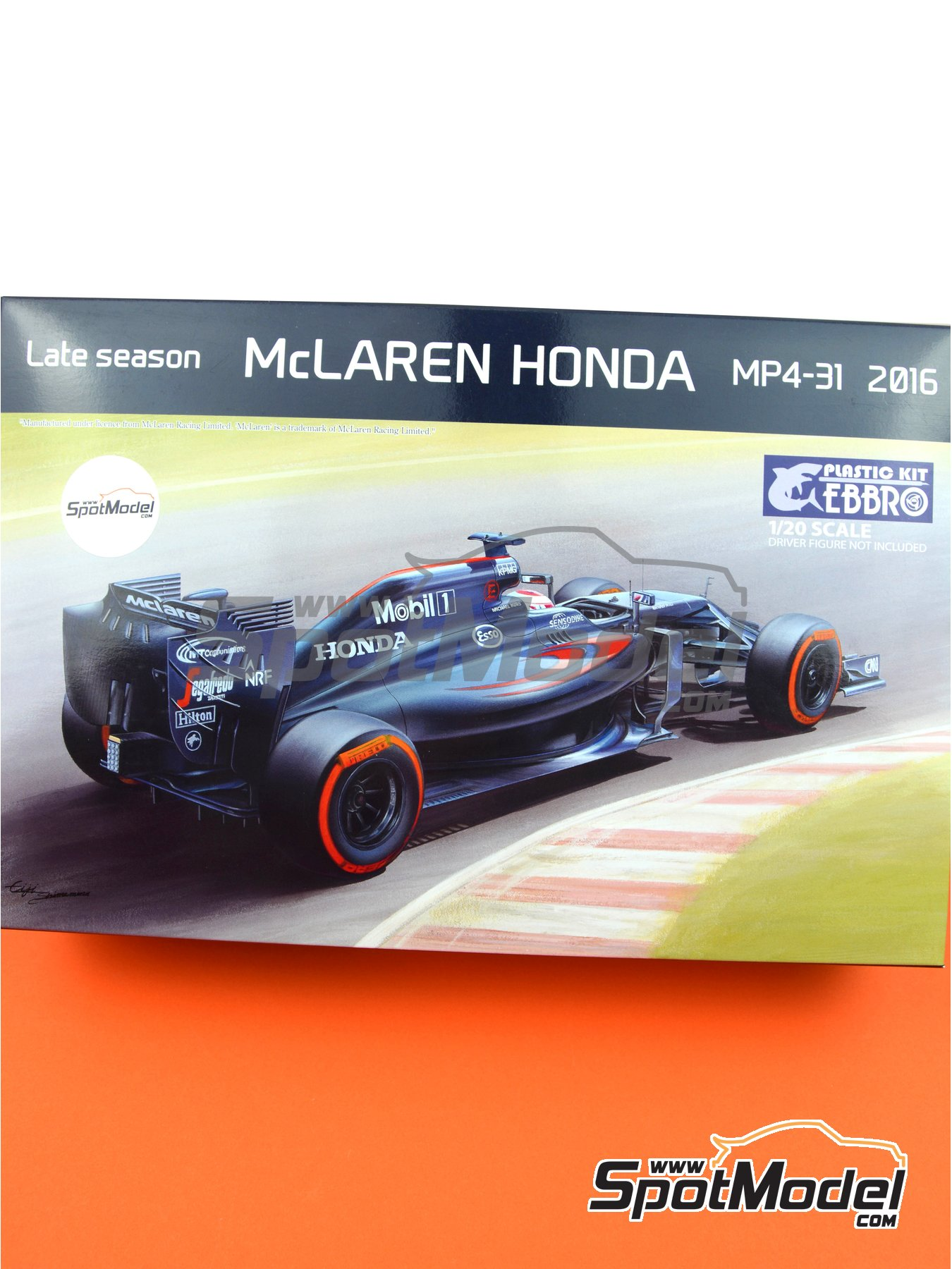 McLaren Honda MP4/31 Mobil1 - FIA Formula 1 World Championship 2016 | Model car kit in 1/20 scale manufactured by Ebbro (ref. EBR20020) image