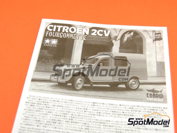 Image 14: Citroën 2CV | Model car kit in 1/24 scale manufactured by Ebbro (ref. EBR25001, also 25001)