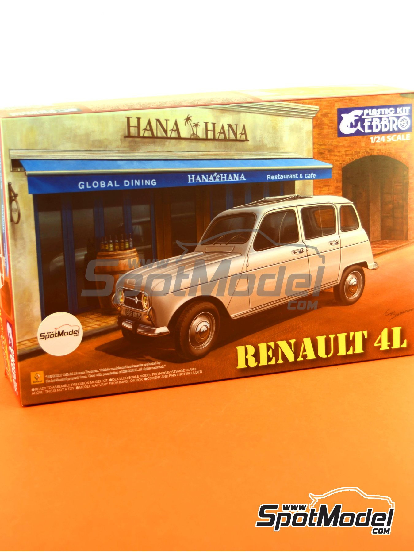 Renault 4L | Model car kit in 1/24 scale manufactured by Ebbro (ref.EBR25002, also 25002) image