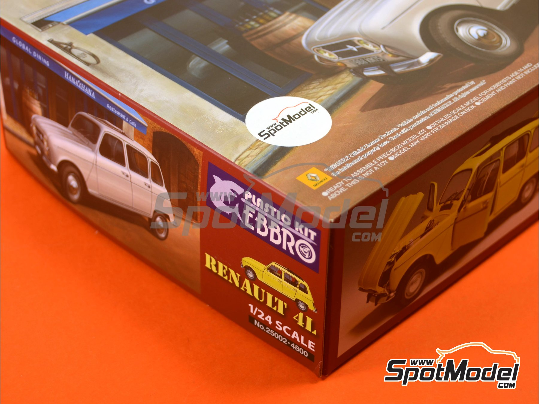 Image 19: Renault 4L | Model car kit in 1/24 scale manufactured by Ebbro (ref.EBR25002, also 25002)