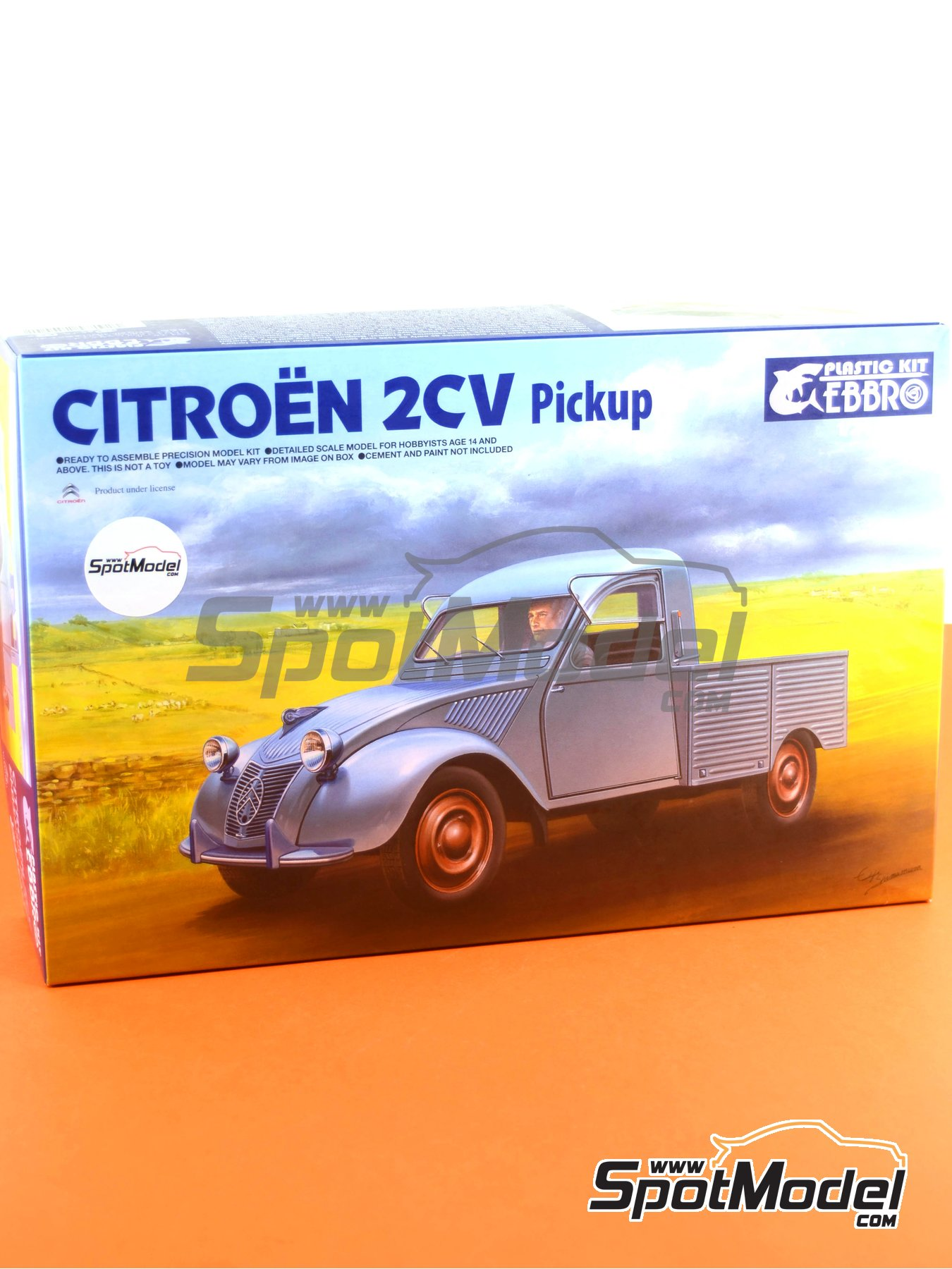 Citroën 2CV | Model car kit in 1/24 scale manufactured by Ebbro (ref. EBR25004, also 25004) image