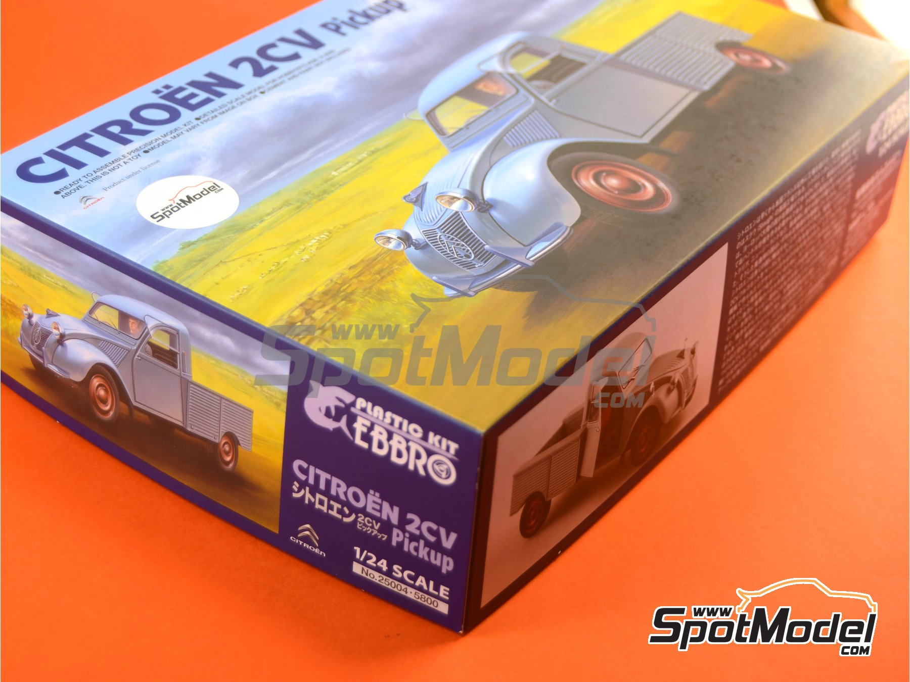 Image 13: Citroën 2CV | Model car kit in 1/24 scale manufactured by Ebbro (ref. EBR25004, also 25004)