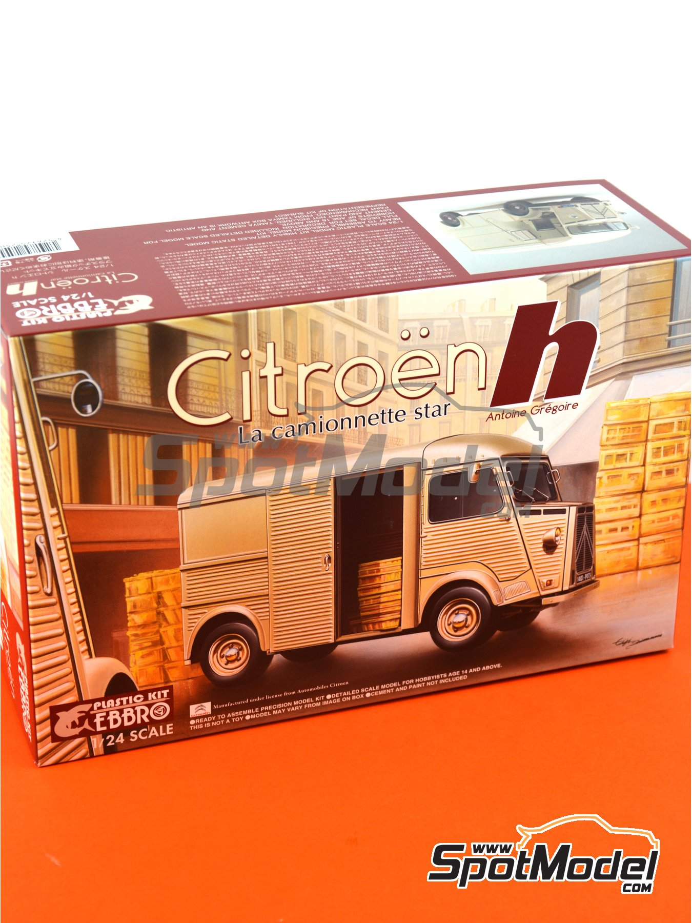 Citroën H Van | Model van kit in 1/24 scale manufactured by Ebbro (ref. EBR25007) image