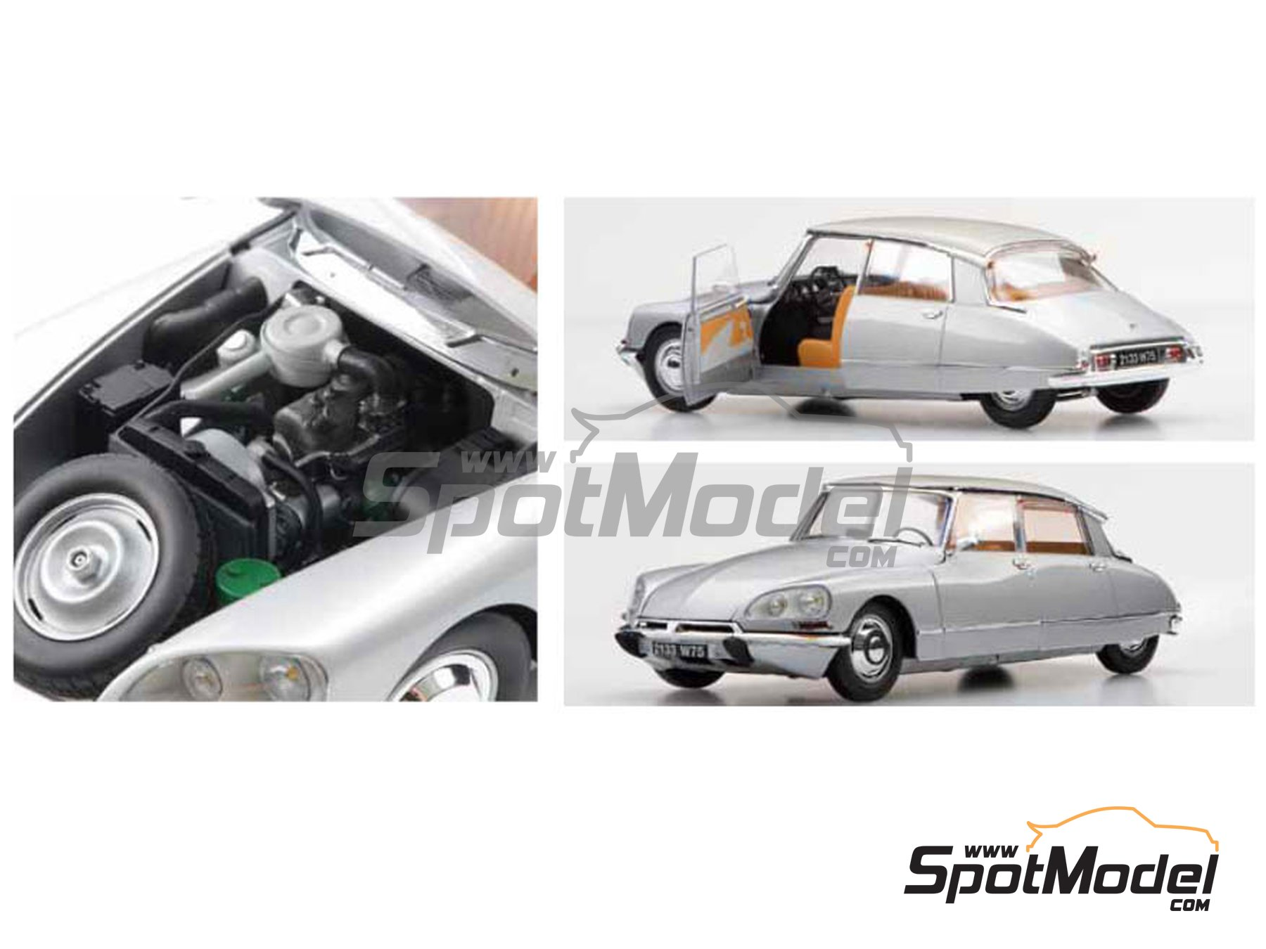 Image 2: Citroën DS21 | Model car kit in 1/24 scale manufactured by Ebbro (ref.EBR25009)