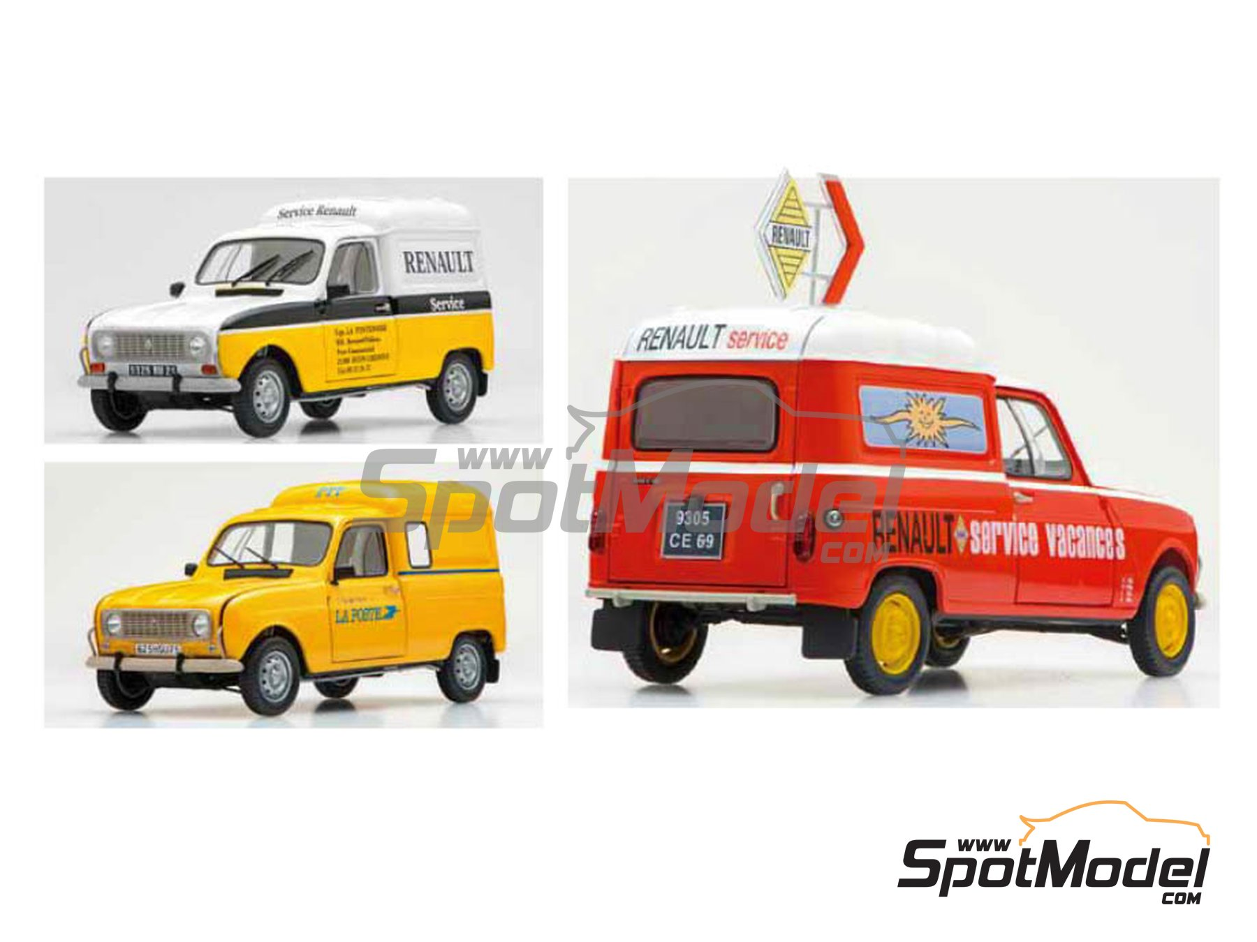 Image 2: Renault 4 Fourgonnette   Model car kit in 1/24 scale manufactured by Ebbro (ref.EBR25012)