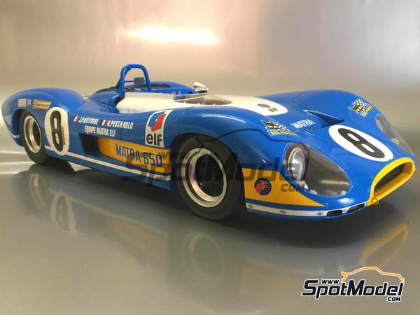 Image 1: Matra MS 650 Equipe Matra ELF - 24 Hours Le Mans, 1000 Kms Paris 1969 and 1970 | Model car kit in 1/12 scale manufactured by FFK Miniatures (ref.001)
