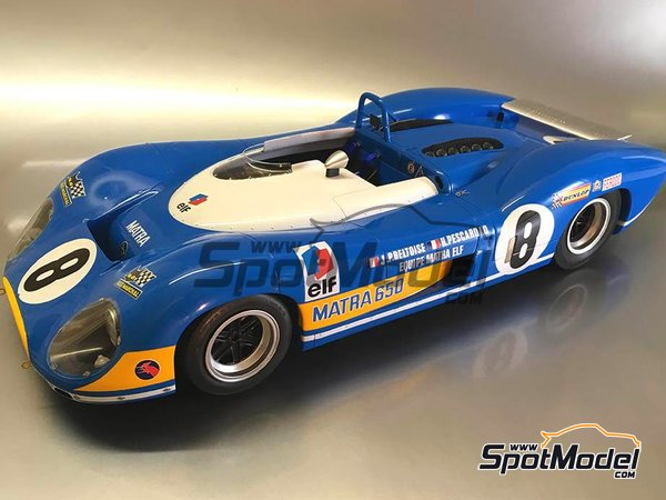 Image 6: Matra MS 650 Equipe Matra ELF - 24 Hours Le Mans, 1000 Kms Paris 1969 and 1970 | Model car kit in 1/12 scale manufactured by FFK Miniatures (ref.001)