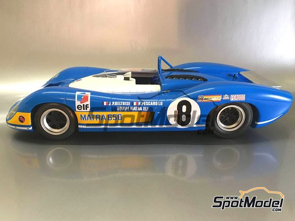 Image 8: Matra MS 650 Equipe Matra ELF - 24 Hours Le Mans, 1000 Kms Paris 1969 and 1970 | Model car kit in 1/12 scale manufactured by FFK Miniatures (ref.001)