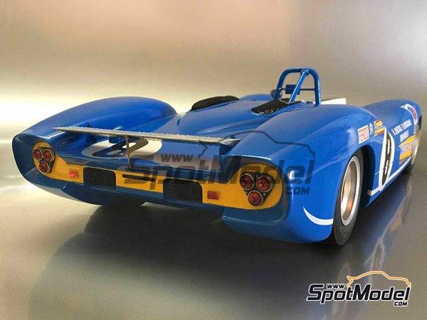 Image 9: Matra MS 650 Equipe Matra ELF - 24 Hours Le Mans, 1000 Kms Paris 1969 and 1970 | Model car kit in 1/12 scale manufactured by FFK Miniatures (ref.001)