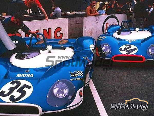Image 10: Matra MS 650 Equipe Matra ELF - 24 Hours Le Mans, 1000 Kms Paris 1969 and 1970 | Model car kit in 1/12 scale manufactured by FFK Miniatures (ref.001)