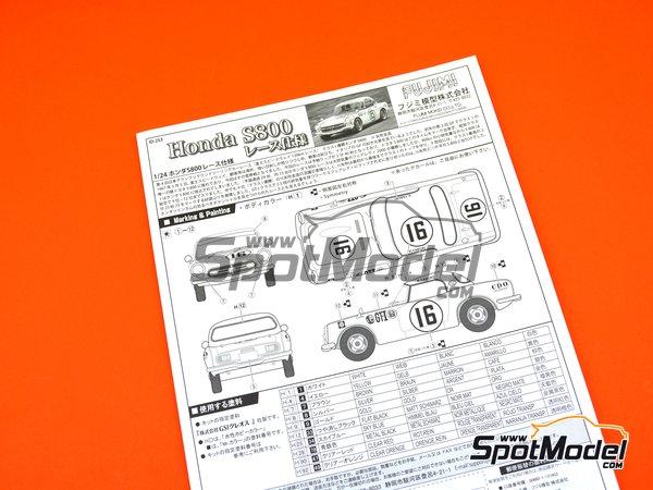 Image 9: Honda S800 | Model car kit in 1/24 scale manufactured by Fujimi (ref.FJ038988)