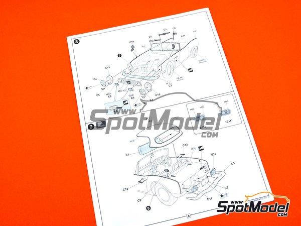 Image 11: Honda S800 | Model car kit in 1/24 scale manufactured by Fujimi (ref.FJ038988)