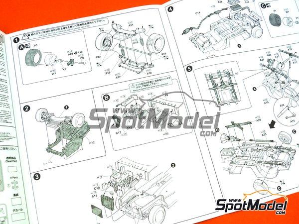 Image 7: Datsun Fairlady SR311 | Model car kit in 1/24 scale manufactured by Fujimi (ref.FJ039695)