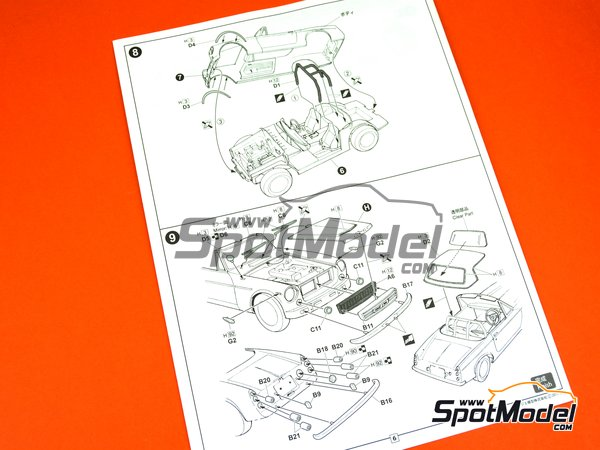 Image 9: Datsun Fairlady SR311 | Model car kit in 1/24 scale manufactured by Fujimi (ref. FJ039695)