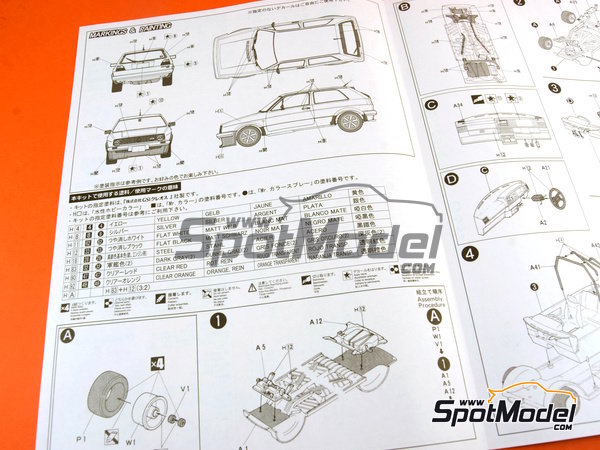 Image 14: Volkswagen Golf II GTI | Model car kit in 1/24 scale manufactured by Fujimi (ref.FJ046020, also 04602 and 46020)