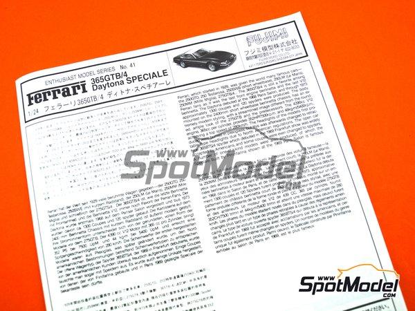 Image 16: Ferrari 365 GTB/4 Daytona Speciale | Maqueta de coche en escala1/24 fabricado por Fujimi (ref.FJ082592)