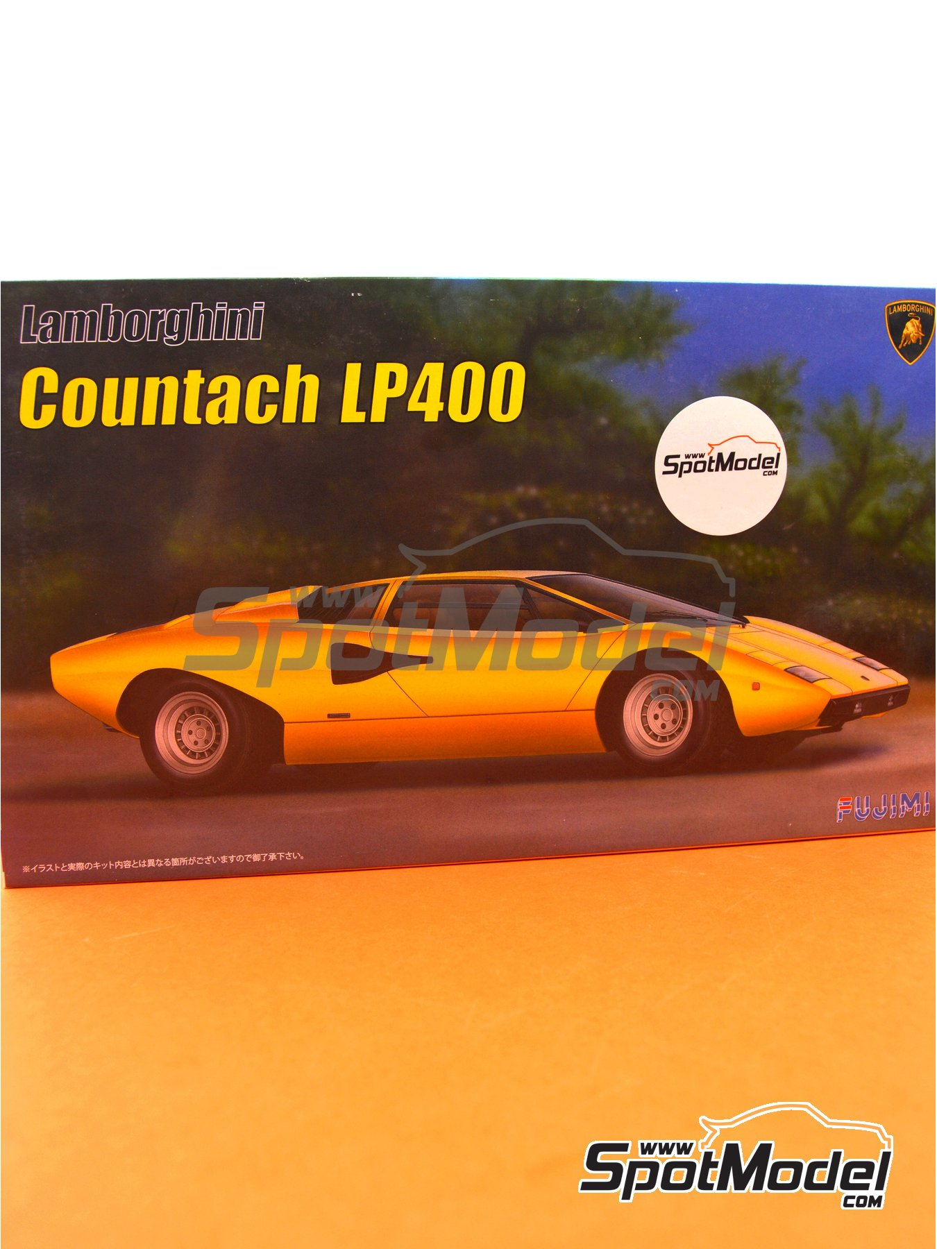 Lamborghini Countach LP400 | Model car kit in 1/24 scale manufactured by Fujimi (ref. FJ082806, also 082806, 08280 and EM-26) image