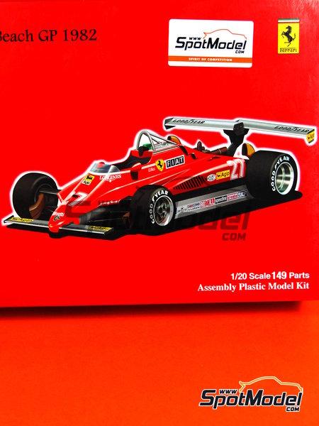 Ferrari 126C2 Fiat - USA West Long Beach Formula 1 Grand Prix 1982 | Model car kit in 1/20 scale manufactured by Fujimi (ref.FJ090337, also 090337) image