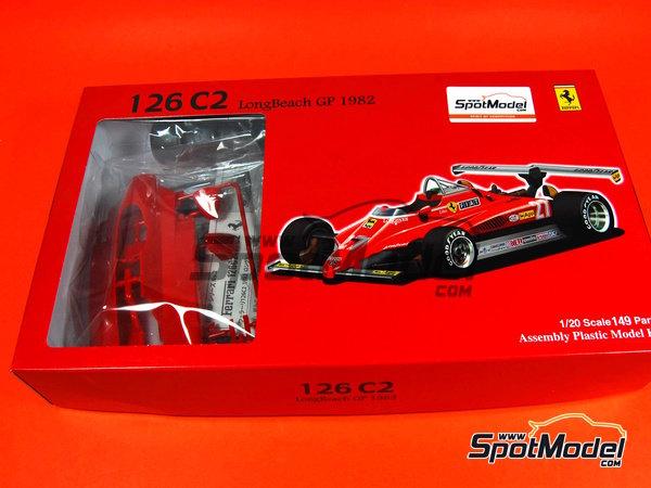 Image 1: Ferrari 126C2 Fiat - USA West Long Beach Formula 1 Grand Prix 1982 | Model car kit in 1/20 scale manufactured by Fujimi (ref.FJ090337, also 090337)