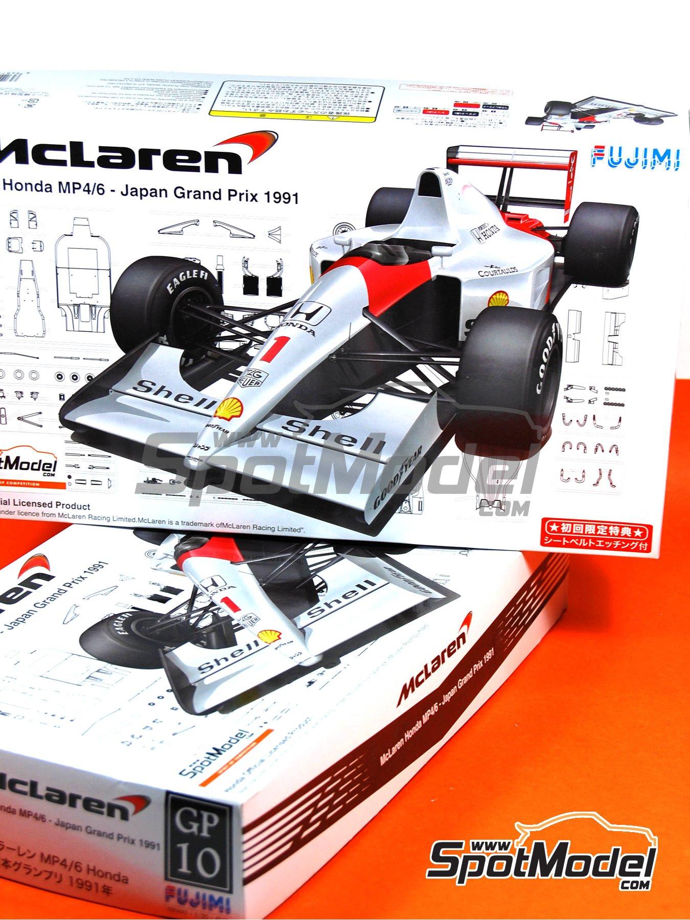 McLaren Honda MP4/6 Shell - Gran Premio de Fórmula 1 de Japón 1991 | Maqueta de coche en escala1/20 fabricado por Fujimi (ref.FJ090443, tambien 09044, GP10, 090443 y FJ09044) image