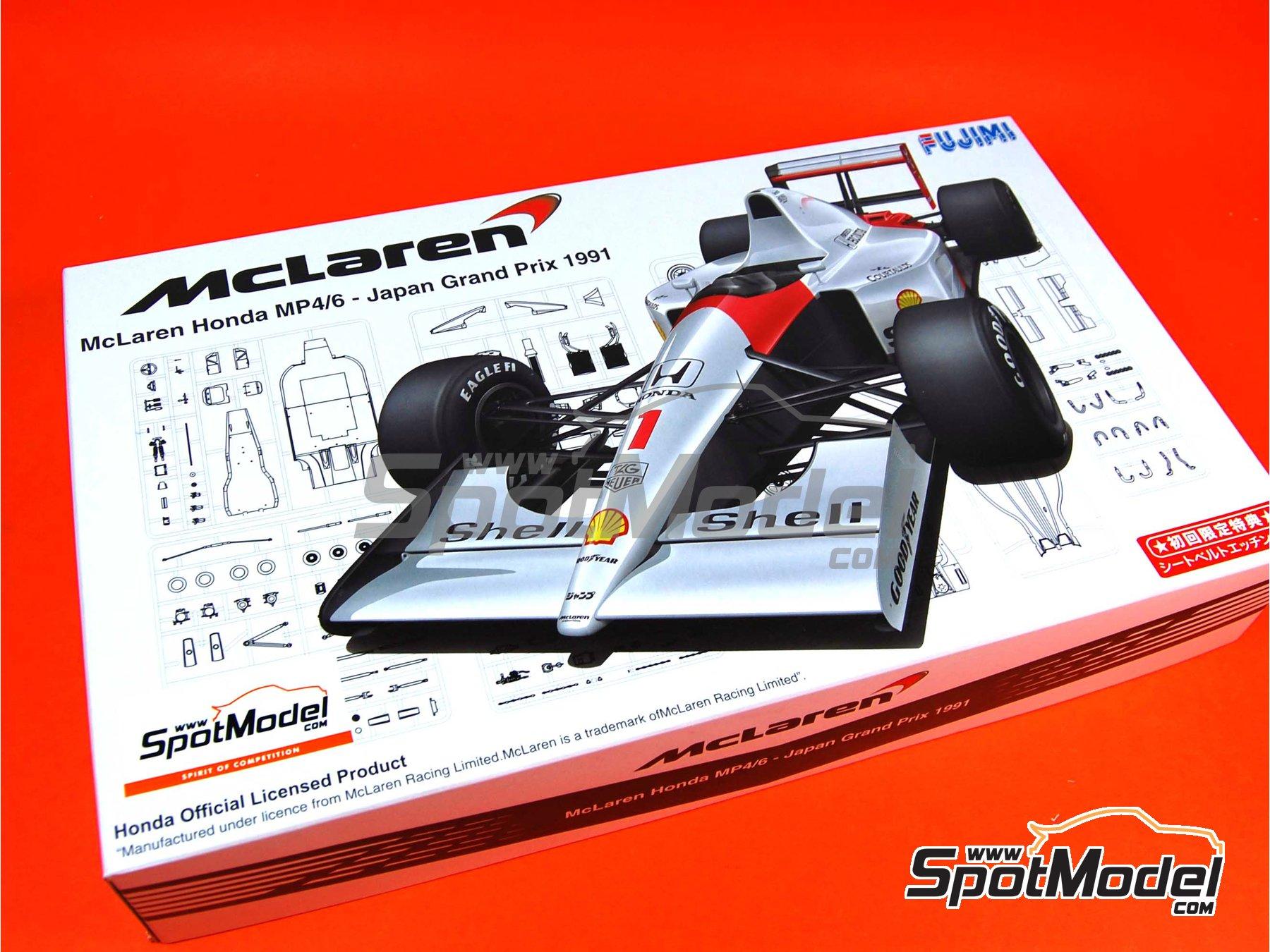 Image 1: McLaren Honda MP4/6 Shell - Gran Premio de Fórmula 1 de Japón 1991 | Maqueta de coche en escala1/20 fabricado por Fujimi (ref.FJ090443, tambien 09044, GP10, 090443 y FJ09044)