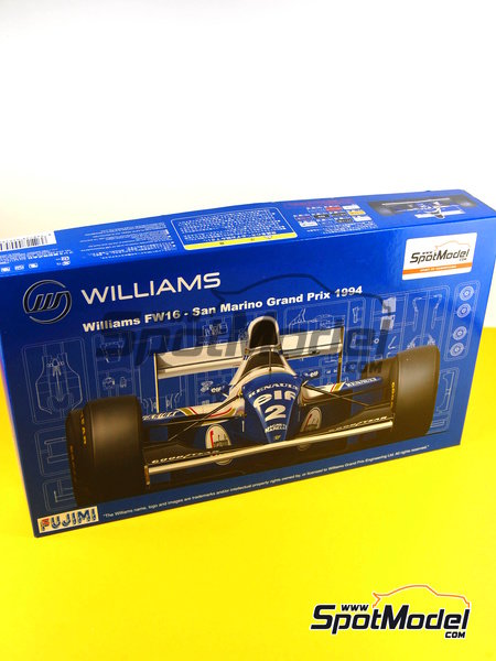 Williams Renault FW16 ELF - San Marino Formula 1 Grand Prix 1994 | Model car kit in 1/20 scale manufactured by Fujimi (ref. FJ090580, also 090580, 09058 and GP-14) image