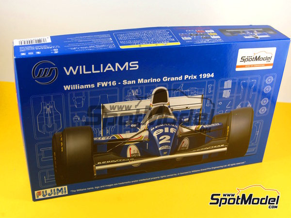 Image 14: Williams Renault FW16 ELF - San Marino Formula 1 Grand Prix 1994 | Model car kit in 1/20 scale manufactured by Fujimi (ref. FJ090580, also 090580, 09058 and GP-14)
