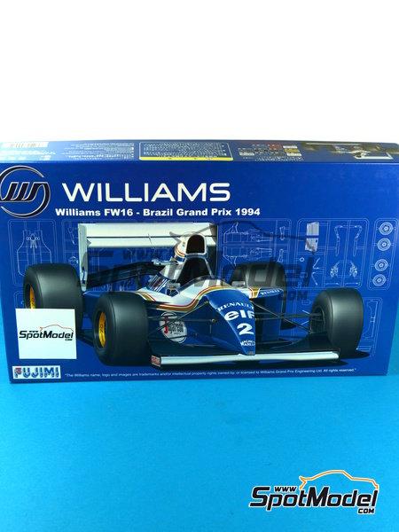 Williams Renault FW16 Segafredo - Campeonato del Mundo de Formula1 1994 | Maqueta de coche en escala1/20 fabricado por Fujimi (ref.FJ090597) image