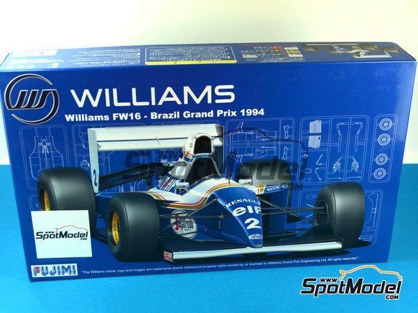 Image 16: Williams Renault FW16 Segafredo - Campeonato del Mundo de Formula1 1994 | Maqueta de coche en escala1/20 fabricado por Fujimi (ref.FJ090597)