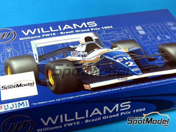 Image 17: Williams Renault FW16 Segafredo - Campeonato del Mundo de Formula1 1994 | Maqueta de coche en escala1/20 fabricado por Fujimi (ref.FJ090597)