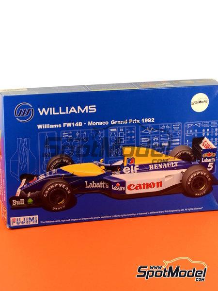 Williams Renault FW14B Canon - Gran Premio de Formula 1 de Mónaco 1992   Maqueta de coche en escala1/20 fabricado por Fujimi (ref.FJ090702) image