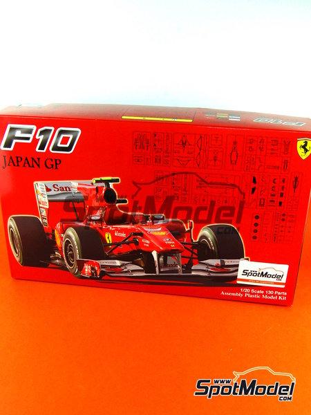 Ferrari F10 Banco Santander - Gran Premio de Fórmula 1 de Japón 2010   Maqueta de coche en escala1/20 fabricado por Fujimi (ref.FJ090870, tambien 090870, 09087 y GP-32) image