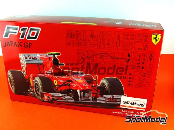 Image 1: Ferrari F10 Banco Santander - Gran Premio de Fórmula 1 de Japón 2010   Maqueta de coche en escala1/20 fabricado por Fujimi (ref.FJ090870, tambien 090870, 09087 y GP-32)