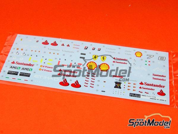 Image 9: Ferrari F10 Banco Santander - Gran Premio de Fórmula 1 de Japón 2010   Maqueta de coche en escala1/20 fabricado por Fujimi (ref.FJ090870, tambien 090870, 09087 y GP-32)