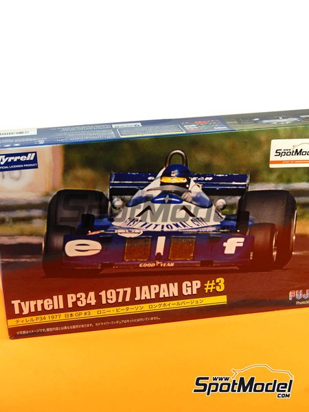 Tyrrell Ford P34 Six Wheels ELF - Japanese Formula 1 Grand Prix 1977 | Model car kit in 1/20 scale manufactured by Fujimi (ref. FJ090900, also 090900, 09090 and GP-34) image
