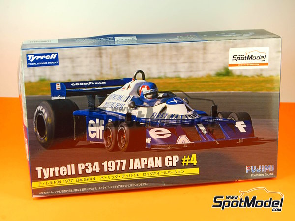 Image 1: Tyrrell Ford P34 ELF - Japanese Formula 1 Grand Prix 1977 | Model car kit in 1/20 scale manufactured by Fujimi (ref.FJ090924, also 090924, 09092 and GP-35)