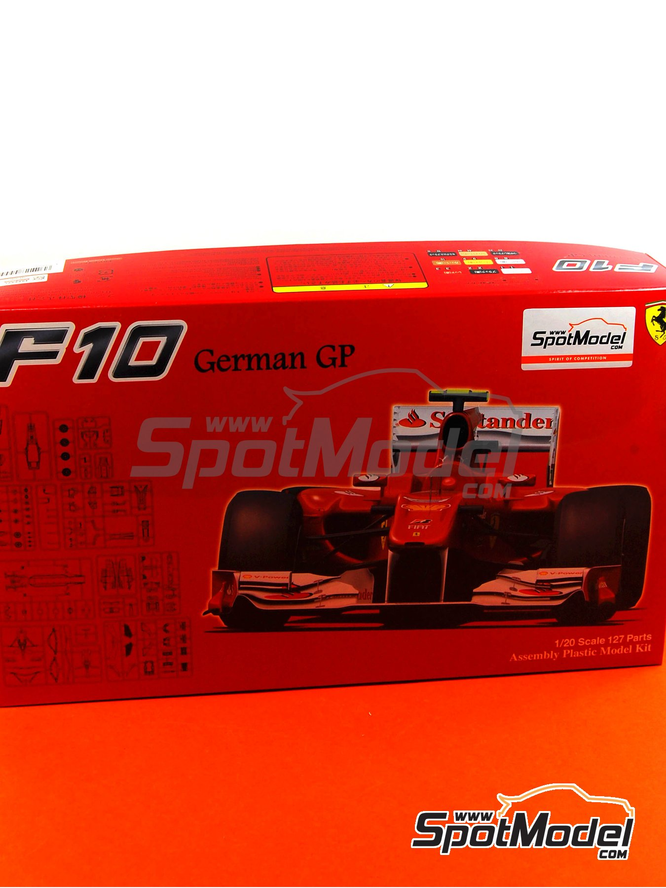 Ferrari F10 Banco Santander - German Grand Prix 2010 | Model car kit in 1/20 scale manufactured by Fujimi (ref. FJ090948) image