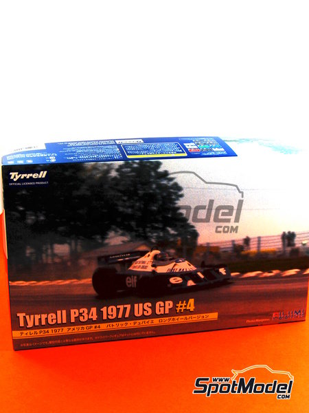 Tyrrell Ford P34 Six Wheels ELF - USA Formula 1 Grand Prix 1977   Model car kit in 1/20 scale manufactured by Fujimi (ref.FJ09098, also 090986, 09098 and GP-40) image