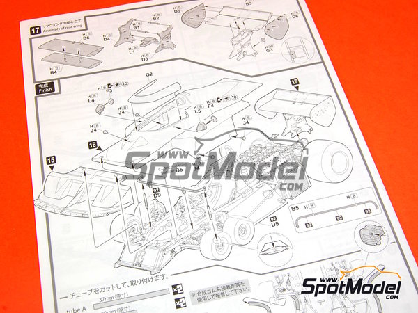 Image 4: Tyrrell Ford P34 Six Wheels ELF - USA Formula 1 Grand Prix 1977   Model car kit in 1/20 scale manufactured by Fujimi (ref.FJ09098, also 090986, 09098 and GP-40)