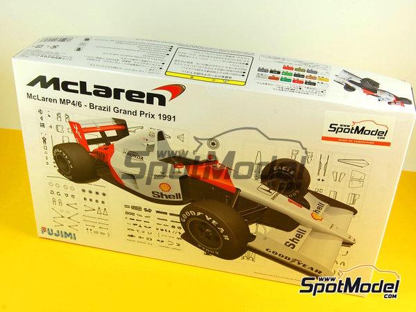 Image 15: McLaren Honda MP4/6 Marlboro - Gran Premio de Fórmula 1 de Brasil 1991 | Maqueta de coche en escala1/20 fabricado por Fujimi (ref.FJ091693)