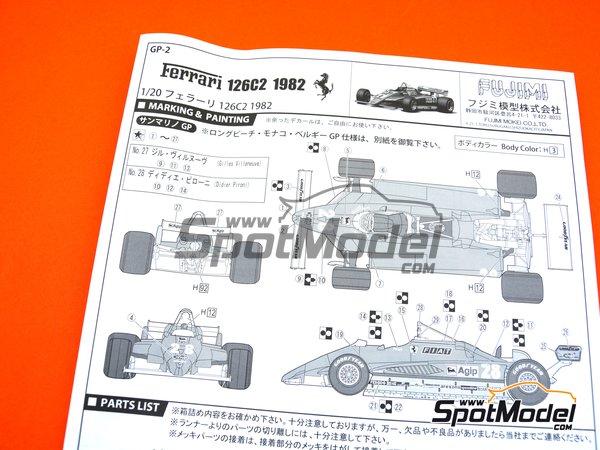 Image 13: Ferrari 126C2 Agip Fiat - Campeonato del Mundo de Formula1 1982   Maqueta de coche en escala1/20 fabricado por Fujimi (ref.FJ091945, tambien 091945)