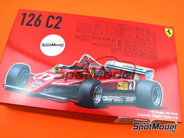 Image 17: Ferrari 126C2 Agip Fiat - Campeonato del Mundo de Formula1 1982   Maqueta de coche en escala1/20 fabricado por Fujimi (ref.FJ091945, tambien 091945)