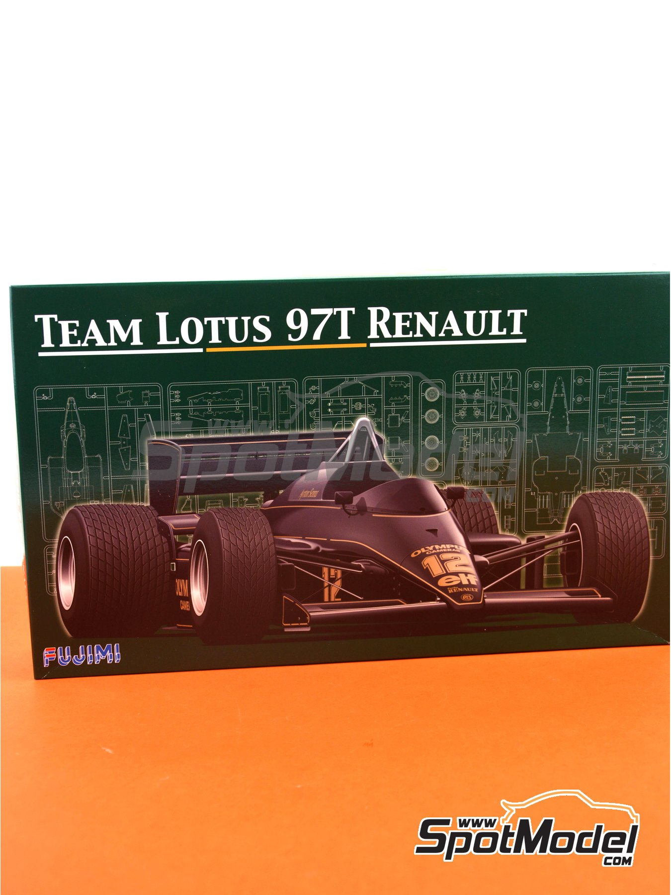 Lotus Renault 97T Olympus - Portuguese Grand Prix 1985 | Model car kit in 1/20 scale manufactured by Fujimi (ref. FJ091952) image