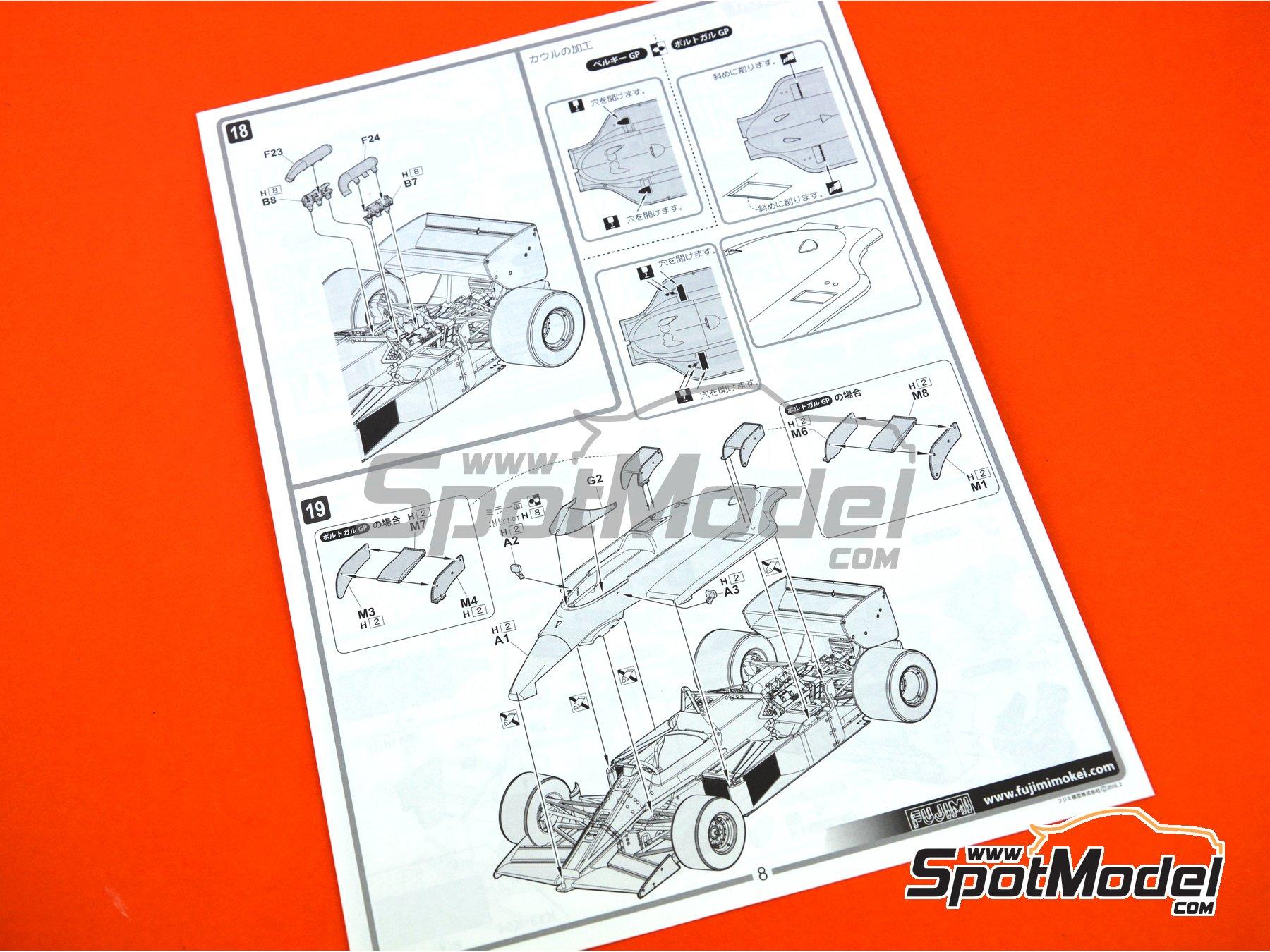 Image 20: Lotus Renault 97T Olympus - Portuguese Grand Prix 1985 | Model car kit in 1/20 scale manufactured by Fujimi (ref.FJ091952)