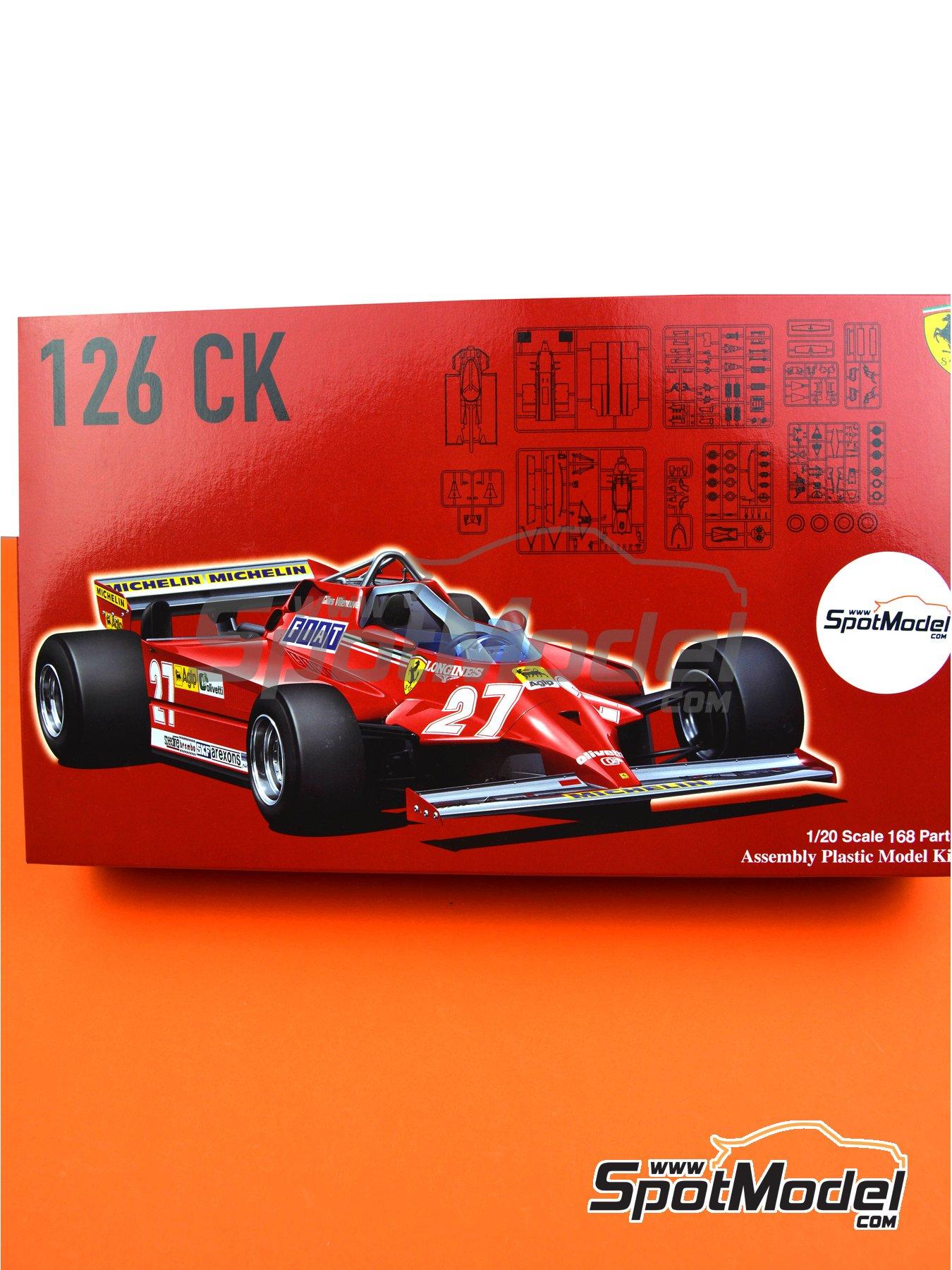 Ferrari 126 CK Michelin - Campeonato del Mundo de Formula1 1981 | Maqueta de coche en escala1/20 fabricado por Fujimi (ref.FJ091969, tambien 091969, 09196 y GP-4) image