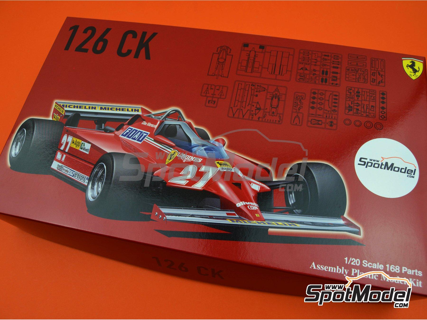 Image 18: Ferrari 126 CK Michelin - Campeonato del Mundo de Formula1 1981 | Maqueta de coche en escala1/20 fabricado por Fujimi (ref.FJ091969, tambien 091969, 09196 y GP-4)