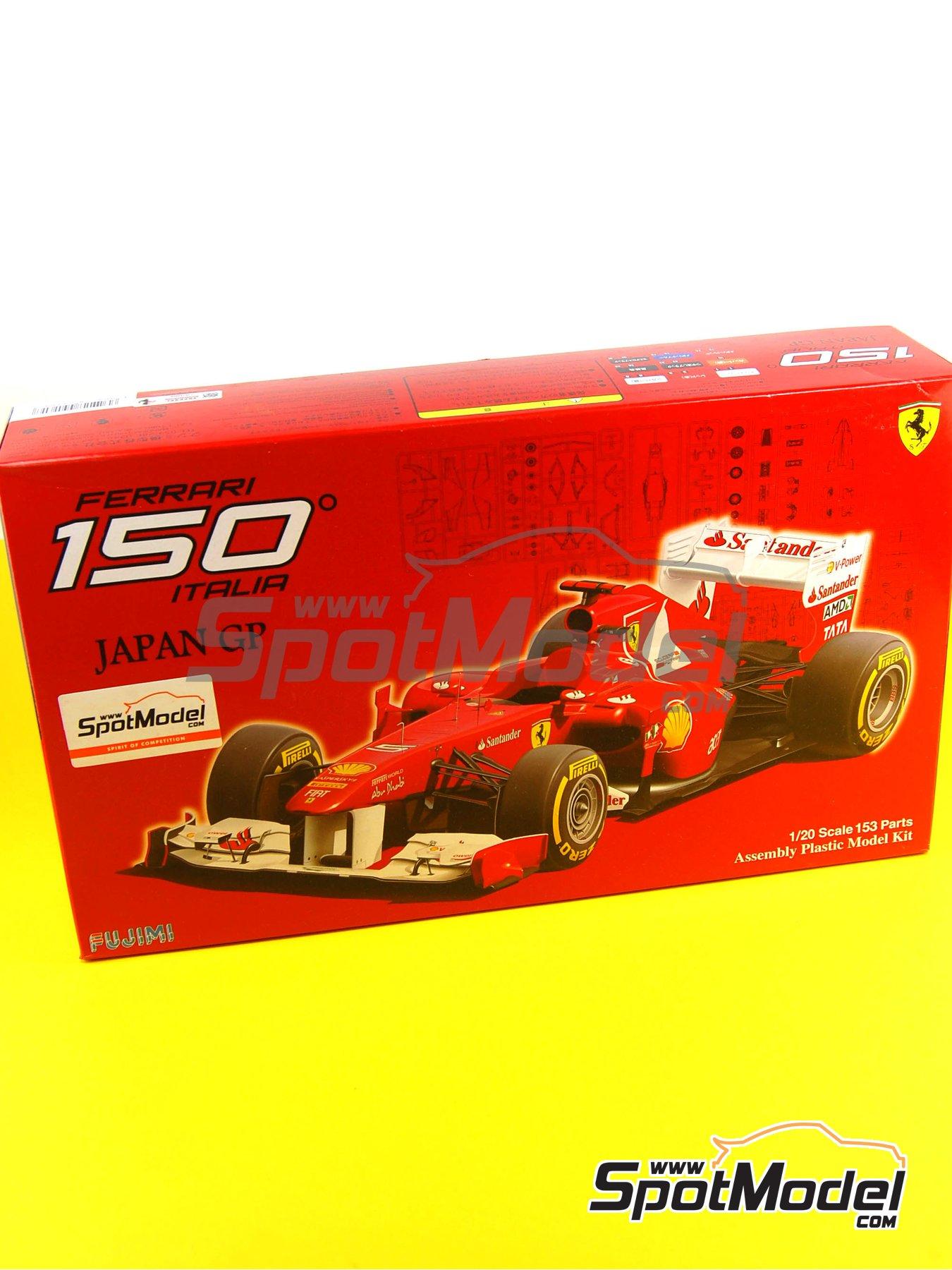 Ferrari 150 Italia Banco Santander - Japanese Formula 1 Grand Prix 2011 | Model car kit in 1/20 scale manufactured by Fujimi (ref.FJ092010, also GP-13, FJ09201, 092010 and 09201) image