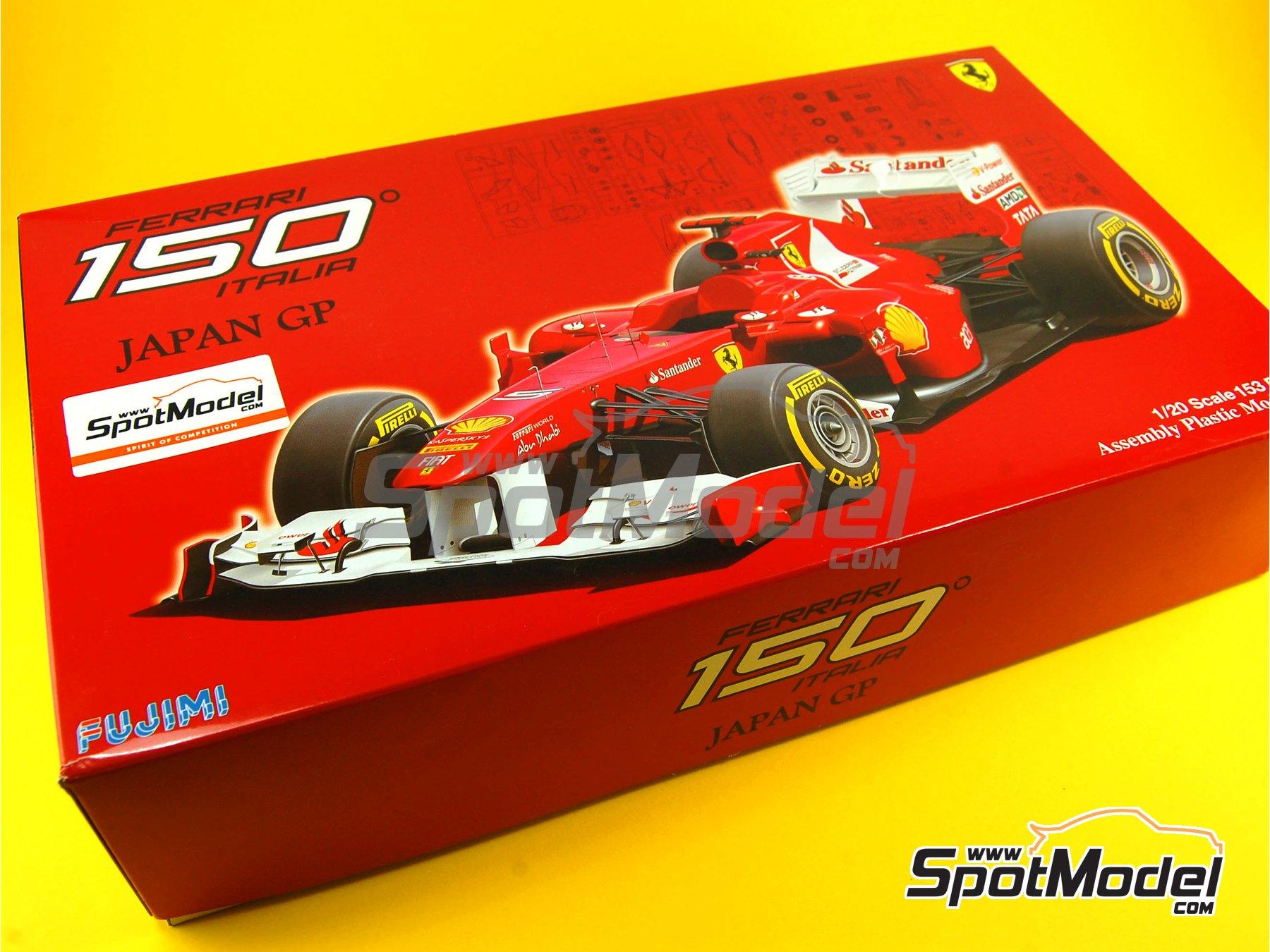 Image 1: Ferrari 150 Italia Banco Santander - Japanese Formula 1 Grand Prix 2011 | Model car kit in 1/20 scale manufactured by Fujimi (ref.FJ092010, also GP-13, FJ09201, 092010 and 09201)