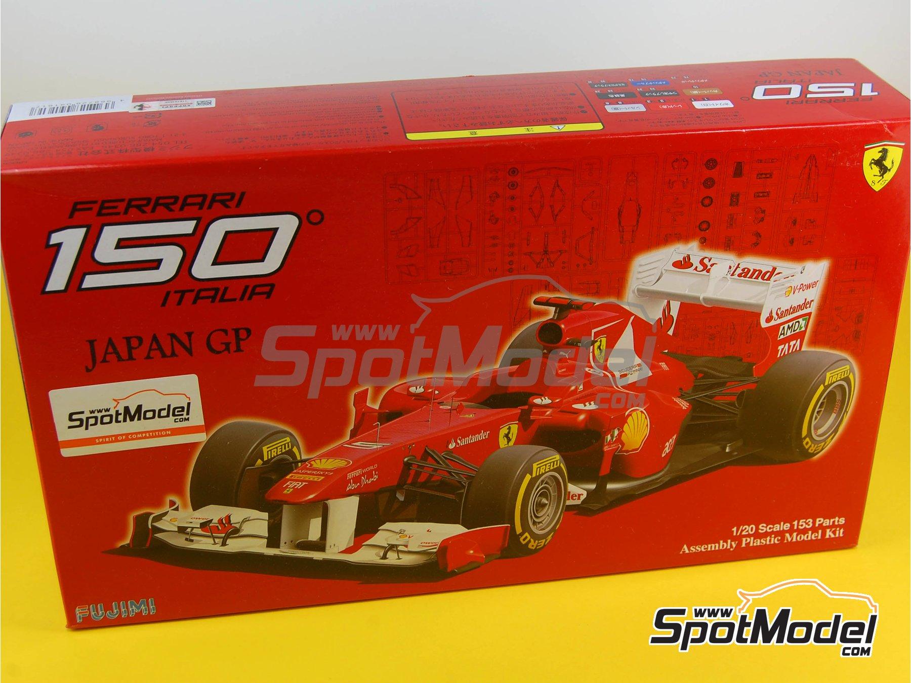 Image 18: Ferrari 150 Italia Banco Santander - Japanese Formula 1 Grand Prix 2011 | Model car kit in 1/20 scale manufactured by Fujimi (ref.FJ092010, also GP-13, FJ09201, 092010 and 09201)